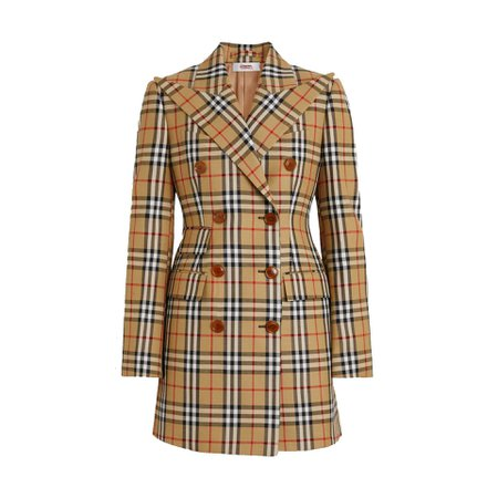 burberry wool double breasted jacket