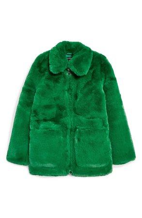 Topshop Faux Fur Jacket   Nordstrom