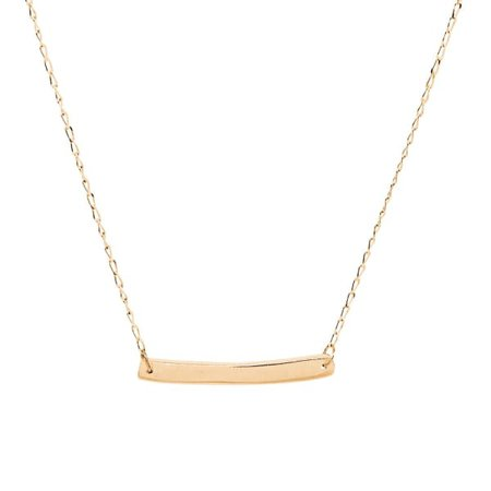 Solid Gold Bar Necklace | Lily Flo Jewellery | Wolf & Badger