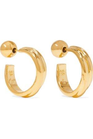Sophie Buhai   Gold vermeil hoop earrings   NET-A-PORTER.COM
