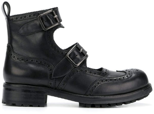 double straps boots
