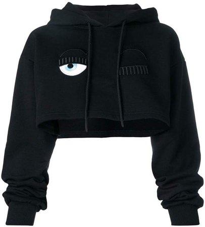 Flirting cropped hoodie