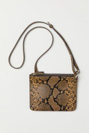 Shoulder Bag - Snakeskin-patterned - Ladies   H&M US