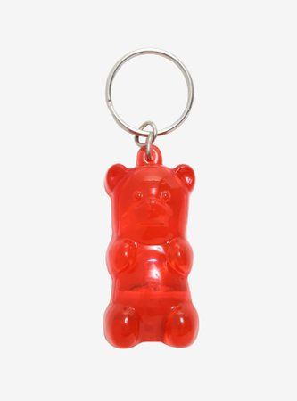 Red Gummy Bear LED Key Chain