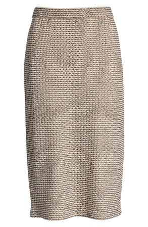 Ming Wang Tweed Knit Pencil Skirt | Nordstrom