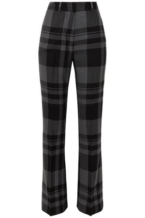 Black Kennedy checked wool bootcut pants | Sale up to 70% off | THE OUTNET | MARKUS LUPFER | THE OUTNET