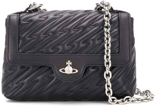 chain strap quilted shoulder bag