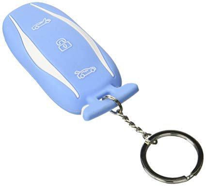 tesla car key blue cover