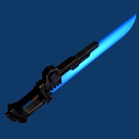 scifi blue knife