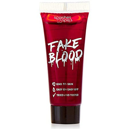 Amazon.com : Realistic Fake Blood - Face and Body Paint - 10ml - Pretend Costume and Dress Up Makeup by Splashes & Spills - New & Improved Formula! : Beauty