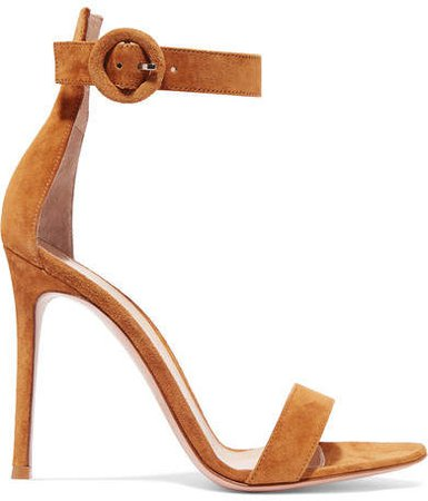 Portofino 105 Suede Sandals - Brown