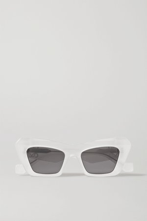 White Oversized cat-eye acetate sunglasses | Loewe | NET-A-PORTER