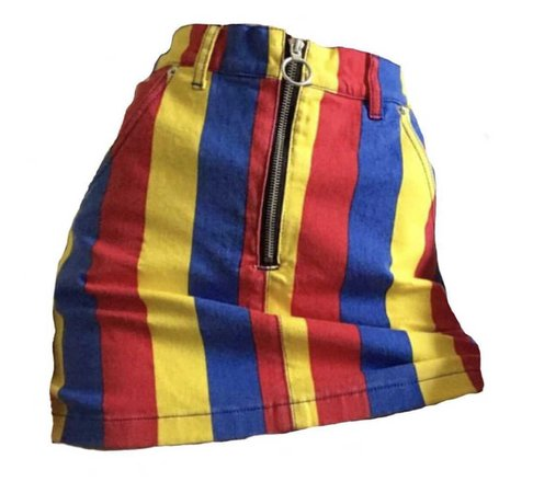 primary colours skirt