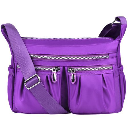 purple Vbiger - Vbiger Women Shoulder Bags Messenger Handbags Multi Pocket Waterproof Crossbody Bags - Walmart.com - Walmart.com