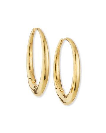 Tai Oval Chunky Hoop Earrings | Neiman Marcus