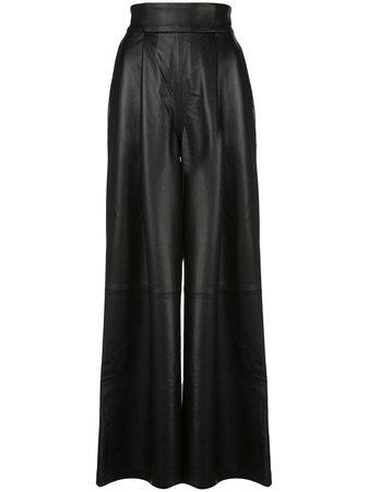 Skiim Amanda Leather Wide Leg Trousers - Farfetch
