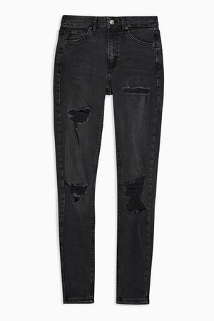 Washed Black Super Rip Jamie Skinny Jeans | Topshop