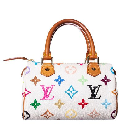 EL CYCÈR sur Instagram : Takashi Murakami x Louis Vuitton multicolor mini speedy bag. Tap to shop this bag and for our current selection of handbags.
