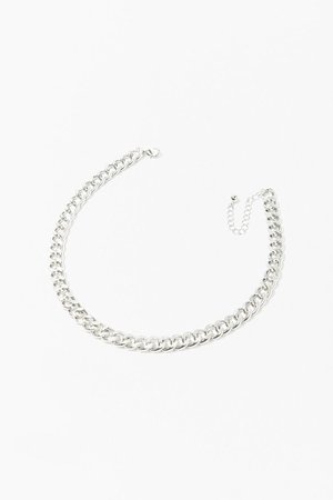 Chunky Curb Chain Necklace   Forever 21