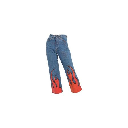 Jeans With Flame Printed