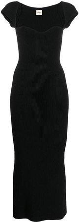 Allegra sweetheart-neckline ribbed dress