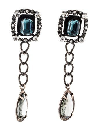 Lanvin Crystal Embellished Drop Earrings - Earrings - LAN97256 | The RealReal