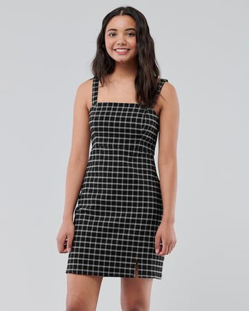 plaid mini dress hollister