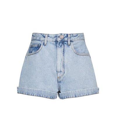 ALESSANDRA RICH High-rise denim shorts