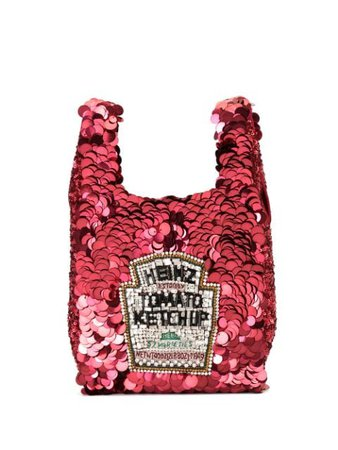 Anya Hindmarch Small Ketchup Tote Bag 143936 Red | Farfetch