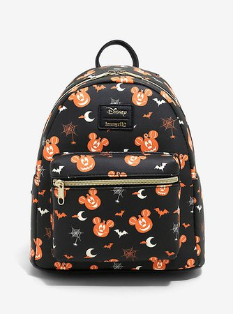 Loungefly Disney Mickey Mouse Pumpkin Mini Backpack