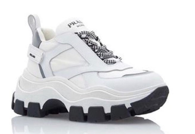 Leather And Rubber Platform Sneakers