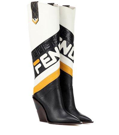 FENDI MANIA leather boots