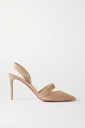 Actina 85 Suede Slingback Pumps - Neutral