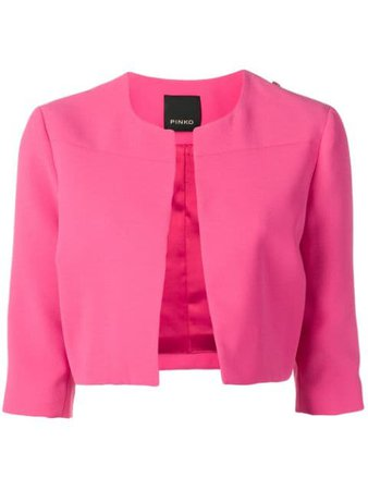 Pinko cropped crepe jacket $202 - Buy Online SS19 - Quick Shipping, Price