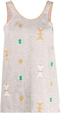 Geometric Embroidered Tank Top