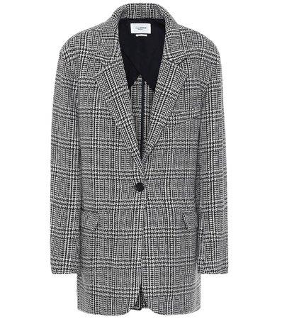 Ondine Checked Wool-Blend Jacket - Isabel Marant, Étoile   Mytheresa