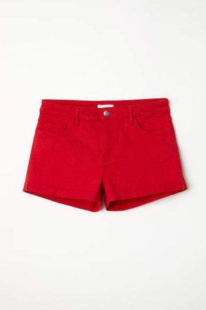 Short Twill Shorts - Red
