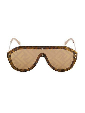 Fendi 53MM Pilot Logo Sunglasses | SaksFifthAvenue