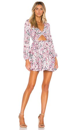 Michael Costello x REVOLVE Tabitha Dress in Pink Blossom   REVOLVE