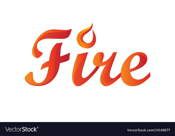 Fire word in gradient Royalty Free Vector Image