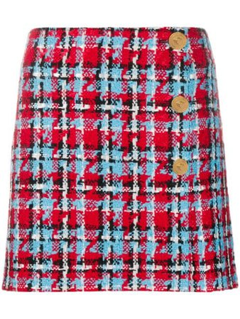 Versace Check A-line Skirt - Farfetch