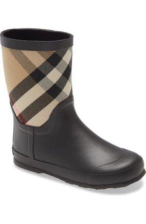 Burberry Ranmoor Waterproof Rain Boot (Walker, Toddler & Little Kid) | Nordstrom