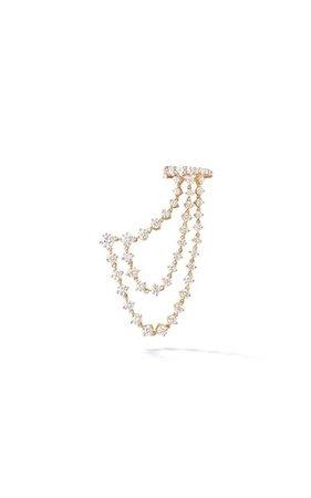 18k Gold Sadie Triple Draped Earring By Melissa Kaye | Moda Operandi