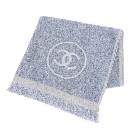 Chanel Cocomark Towel 100% Cotton Light Blue
