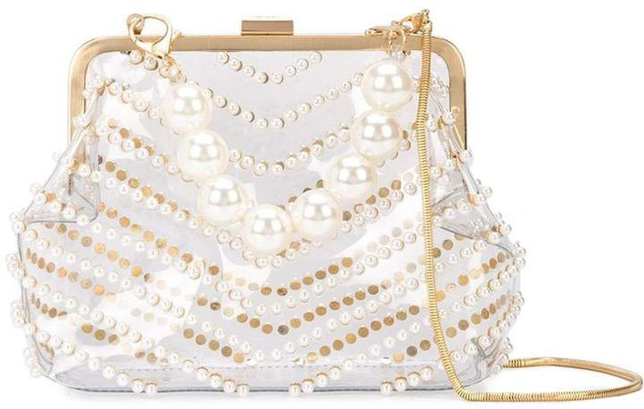 lacey pearl frame clutch