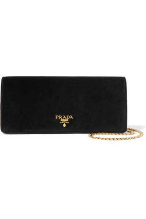 Prada | Velvet shoulder bag | NET-A-PORTER.COM