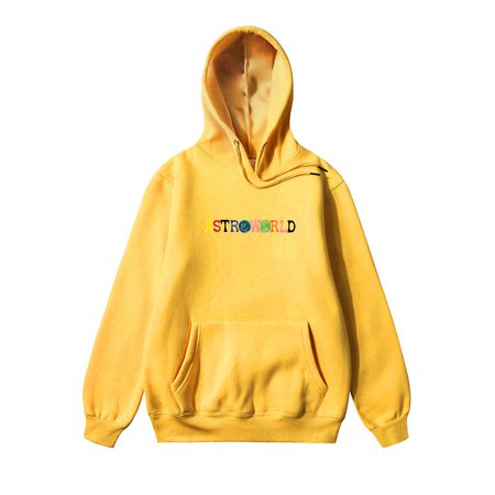 astroworld merch hoodie yellow