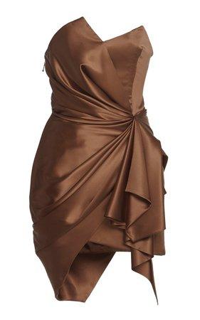 Strapless Satin Dress by Alexandre Vauthier | Moda Operandi