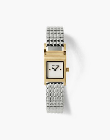Breda Revel Gold and Stainless Steel Bracelet Watch