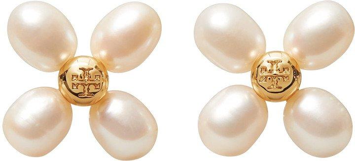 Buddy Pearl Clover Stud Earrings